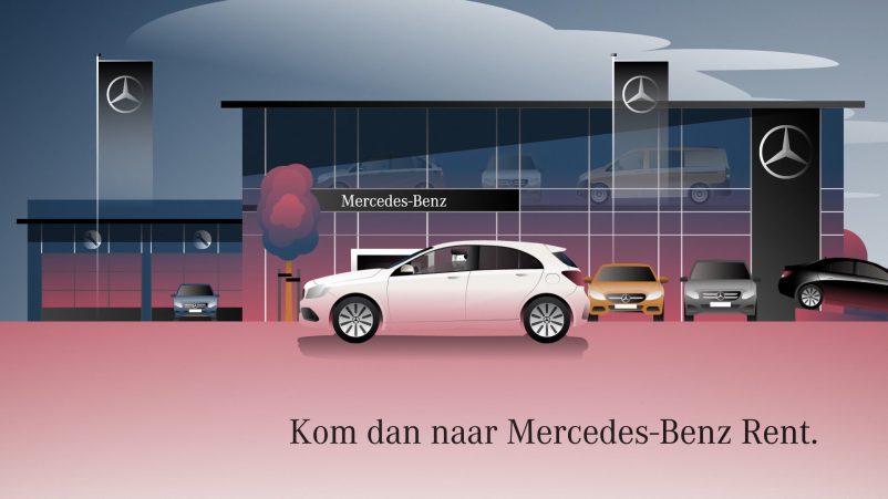 Mercedes-Benz Rent A-Klasse Aankomst
